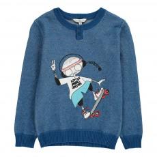 Pull Little Marc Skateur Bleu marine
