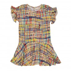Robe Patineuse Carreaux Loved Multicolore