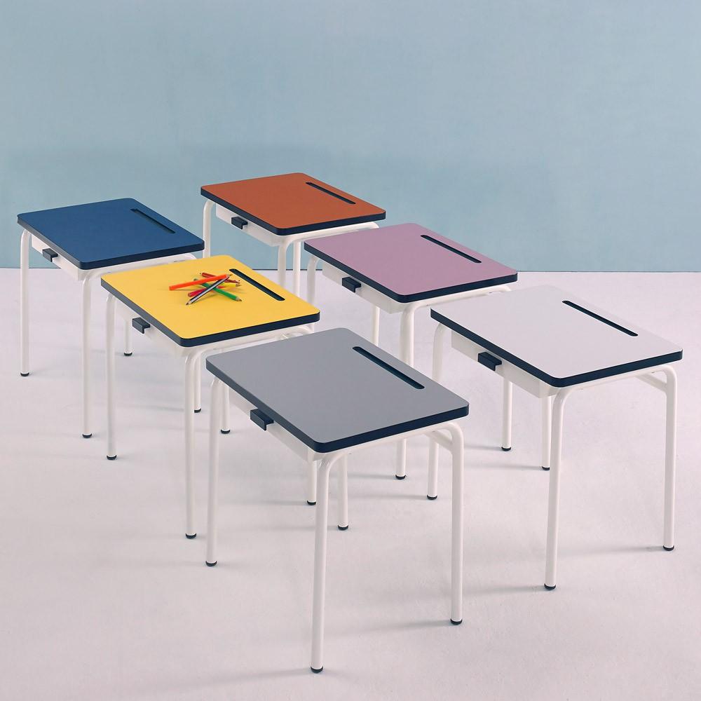 bureau enfant r gine gris les gambettes mobilier. Black Bedroom Furniture Sets. Home Design Ideas