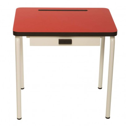 bureau enfant r gine rouge les gambettes mobilier smallable. Black Bedroom Furniture Sets. Home Design Ideas