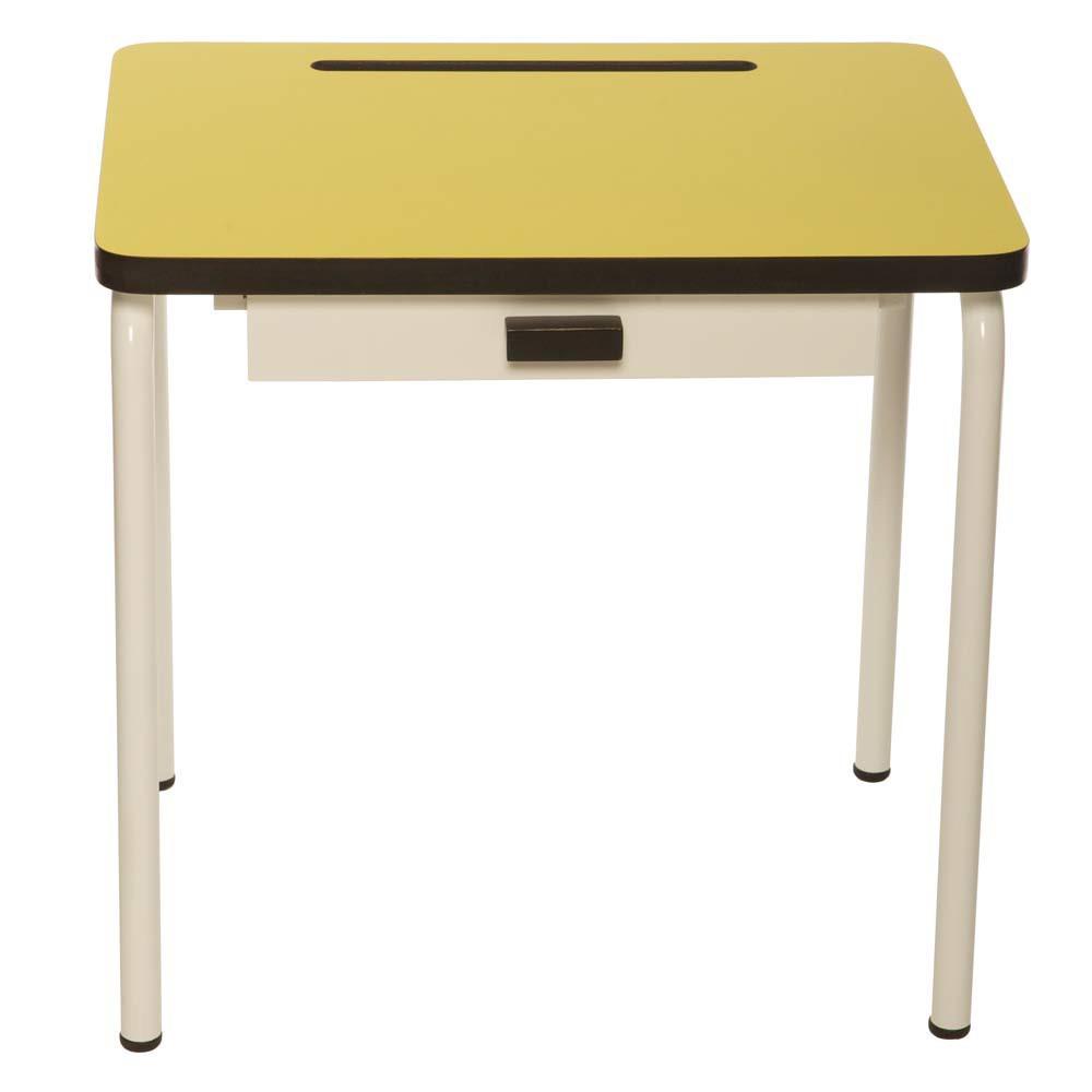 Bureau enfant r gine jaune les gambettes mobilier for Bureau jaune