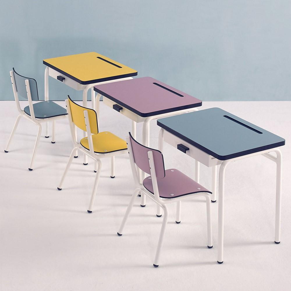 bureau enfant r gine jaune les gambettes mobilier smallable. Black Bedroom Furniture Sets. Home Design Ideas