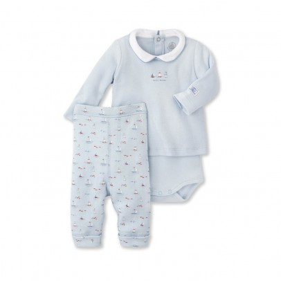 Image du produit Ensemble T-Shirt Body et Pantalon Beaucoup Bleu ciel