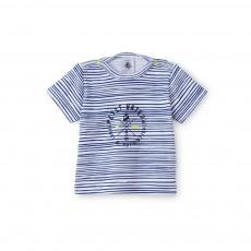 Tshirt Rayé Boost Bleu