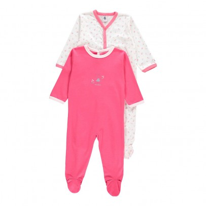 Image du produit Lot de 2 Pyjamas à Pieds Bettina Rose