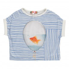 Crop Top Rayé Poisson Fave Bleu