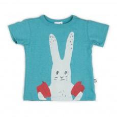 T-shirt Lapin Bleu Vert