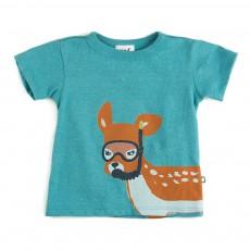 T-shirt Bambi Bleu Vert
