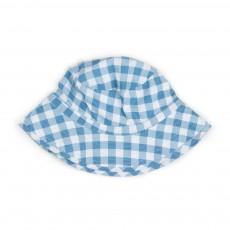 Chapeau Carreaux Bleu ciel