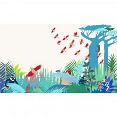 Papier peint décor Manja 300x350 cm Multicolore
