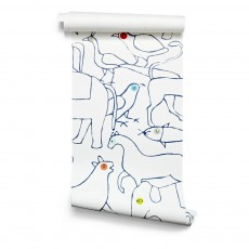 Papier-peint The Animals 182x280 cm - 2 lés Multicolore