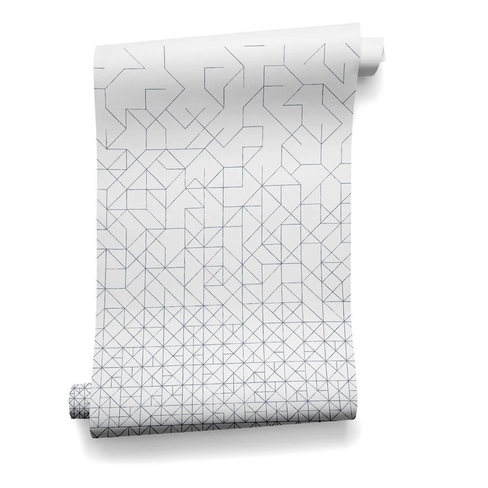 papier peint modular 182x280 cm 2 l s bleu gris bien. Black Bedroom Furniture Sets. Home Design Ideas