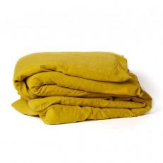 Housse de couette en lin lavé Jaune moutarde
