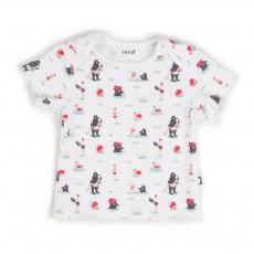 T-shirt Imprimé Baigneurs Blanc