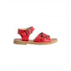 Sandales Cuir Pearl Rouge