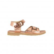Sandales Cuir Pearl Cuivre