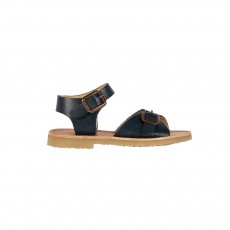 Sandales Cuir Sonny Bleu marine
