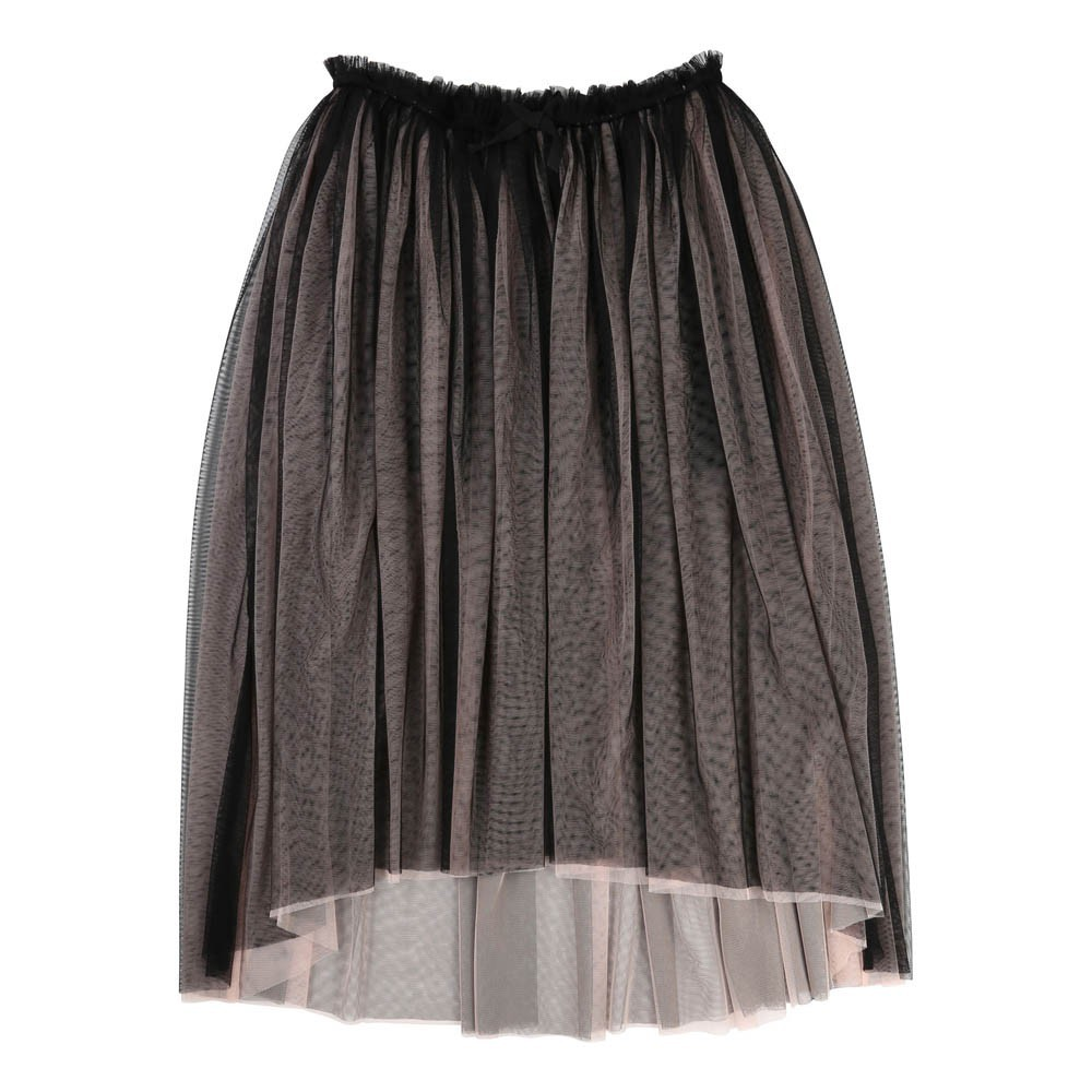 jupon long tulle noir une fille today i am mode ado smallable. Black Bedroom Furniture Sets. Home Design Ideas