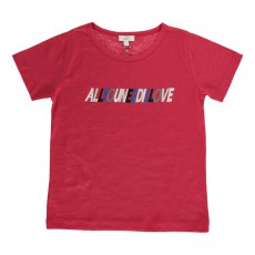 "T-Shirt ""All You Need Is Love"" Rouge"