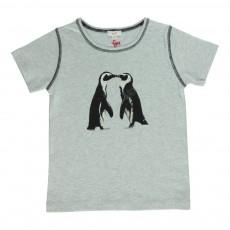 T-Shirt Pingouins Gris perle