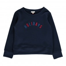 "Sweat ""Holidays"" Brodé Bleu marine"