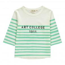 T-Shirt Manches 3/4 Rayé  Art C ollege Ecru