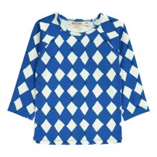 T-Shirt Anti Uv Losanges Diamonds Bleu roi