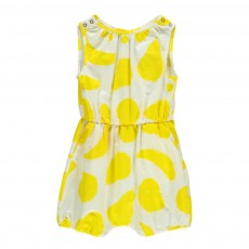 Combishort Jaune Big Fruits Blanc