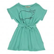 Robe Le Chat Bleu turquoise