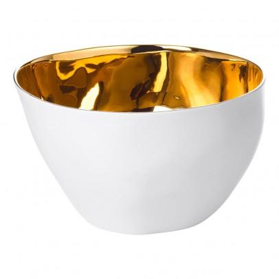 Image du produit Saladier Grand bol Affamé porcelaine platine Doré