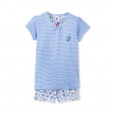 Pyjama Court Bend Bleu