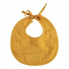Bavoir en gaze de coton Jaune moutarde