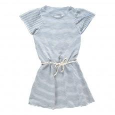 Robe Jersey Rayée Mireille Bleu