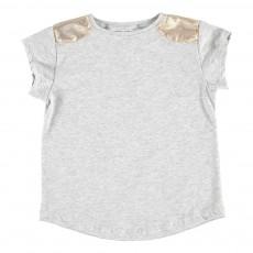 T-Shirt Epaules Dorées Anaïs Gris chiné