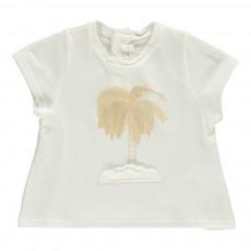 T-Shirt Palmier Blanc