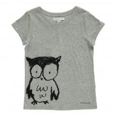 T-Shirt Hibou Gris chiné