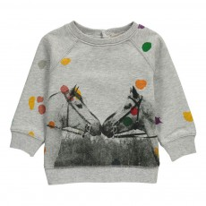 Sweat Chevaux Pois Billy Gris chiné