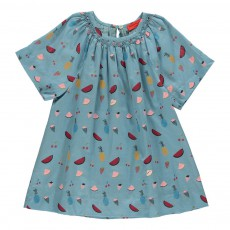 Robe Fruits Bleu gris