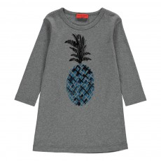 Robe Ananas Sequins Gris chiné