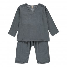 Tunisien   Pantalon Zac Bleu gris