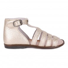Sandales Cuir Hosmose Doré