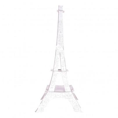 Image du produit Tour Eiffel 1 mètre en carton à colorier Blanc