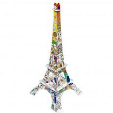 Tour Eiffel 50 cm en carton à colorier Blanc