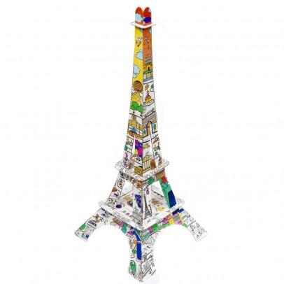 Image du produit Tour Eiffel 50 cm en carton à colorier Blanc