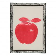 Affiche Pomme 29,7x42 cm Rouge