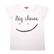 "T-Shirt ""Big Cheese"" Ecru"