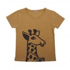 T-Shirt Girafe Vert kaki