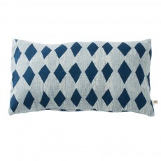 Housse de coussin losanges 30x50 cm Bleu