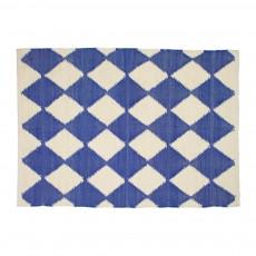 Tapis losanges 140x70 cm Bleu