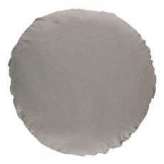 Oreiller rond en lin lavé - 65 cm Gris